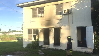 Two adults and two children were displaced from their Belle Glade home by a fire Sunday morning.