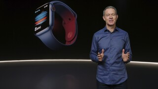 Apple debuts discount watch, but no new iPhones until later this year