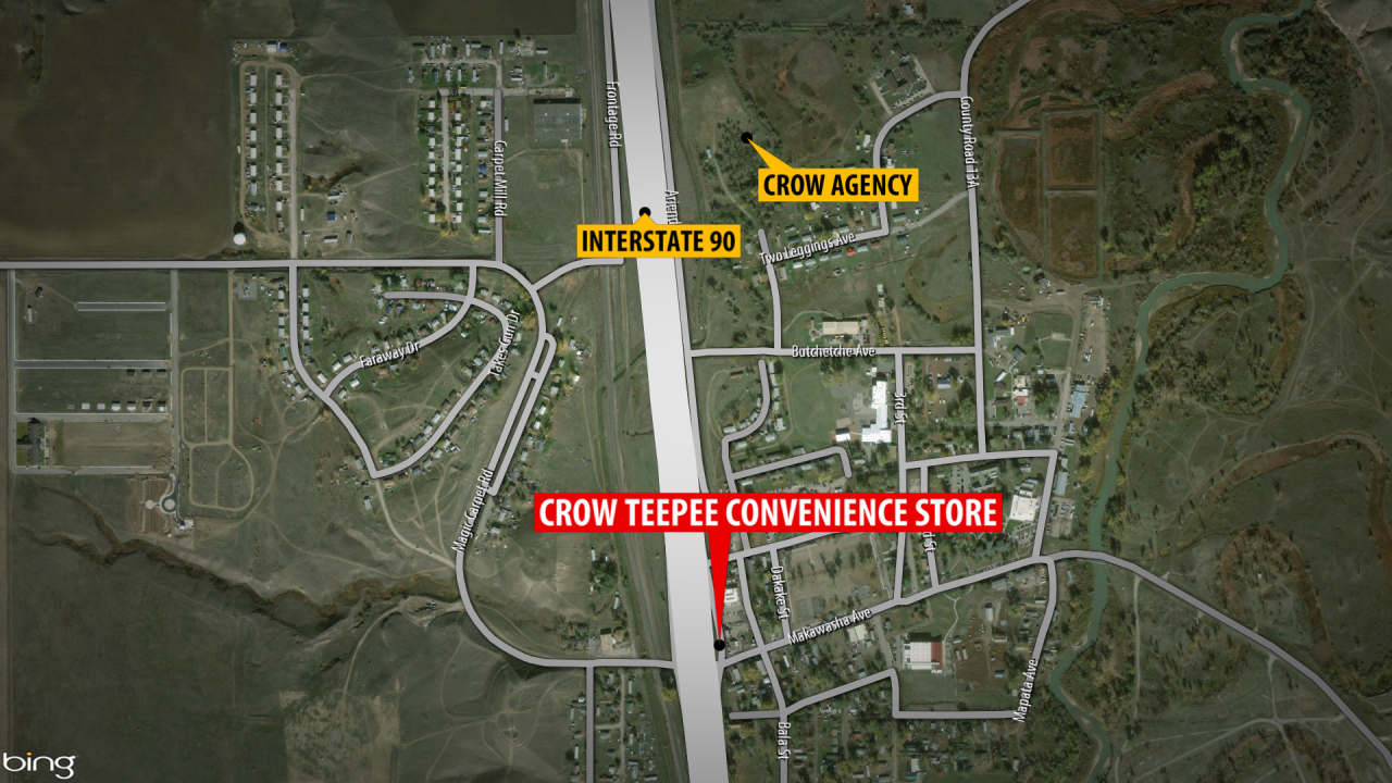 One person dead in Crow Agency after Sunday homicide at Crow Teepee Convenience Store