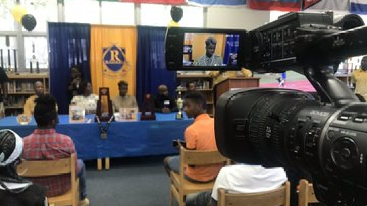 Rickards' track star celebrates signing to Purdue