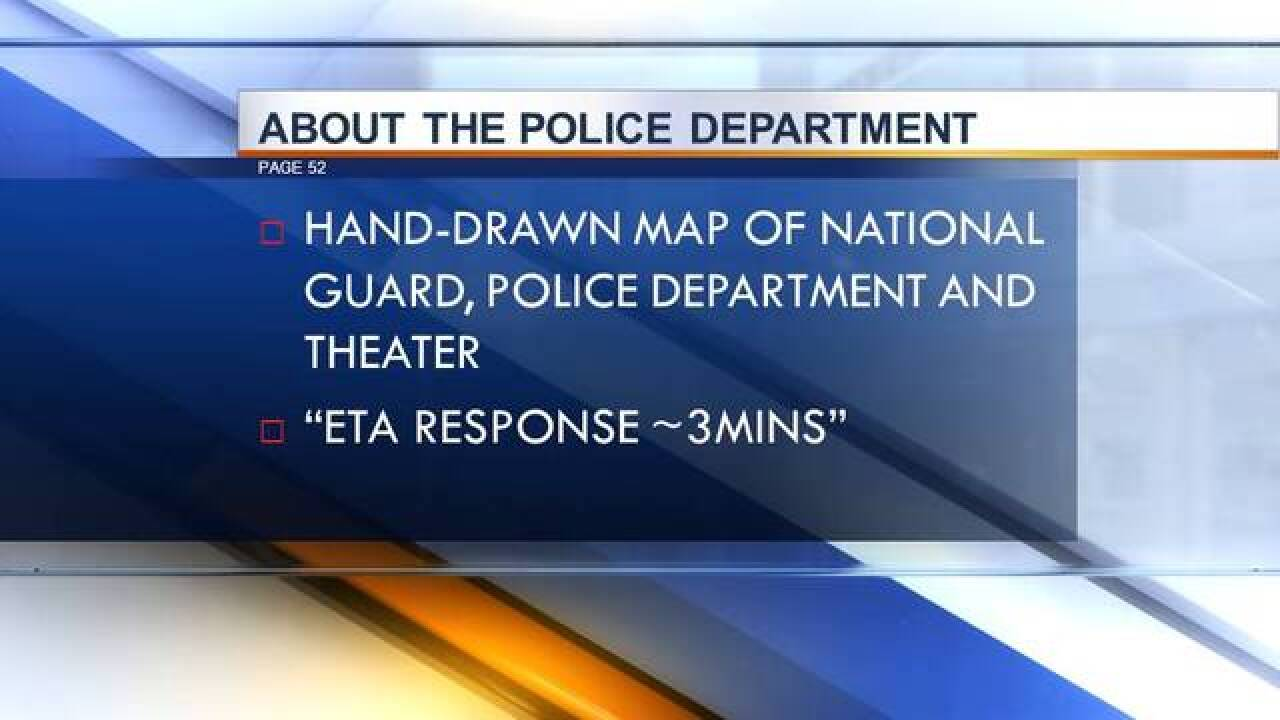 Theater gunman's notebook entered into evidence
