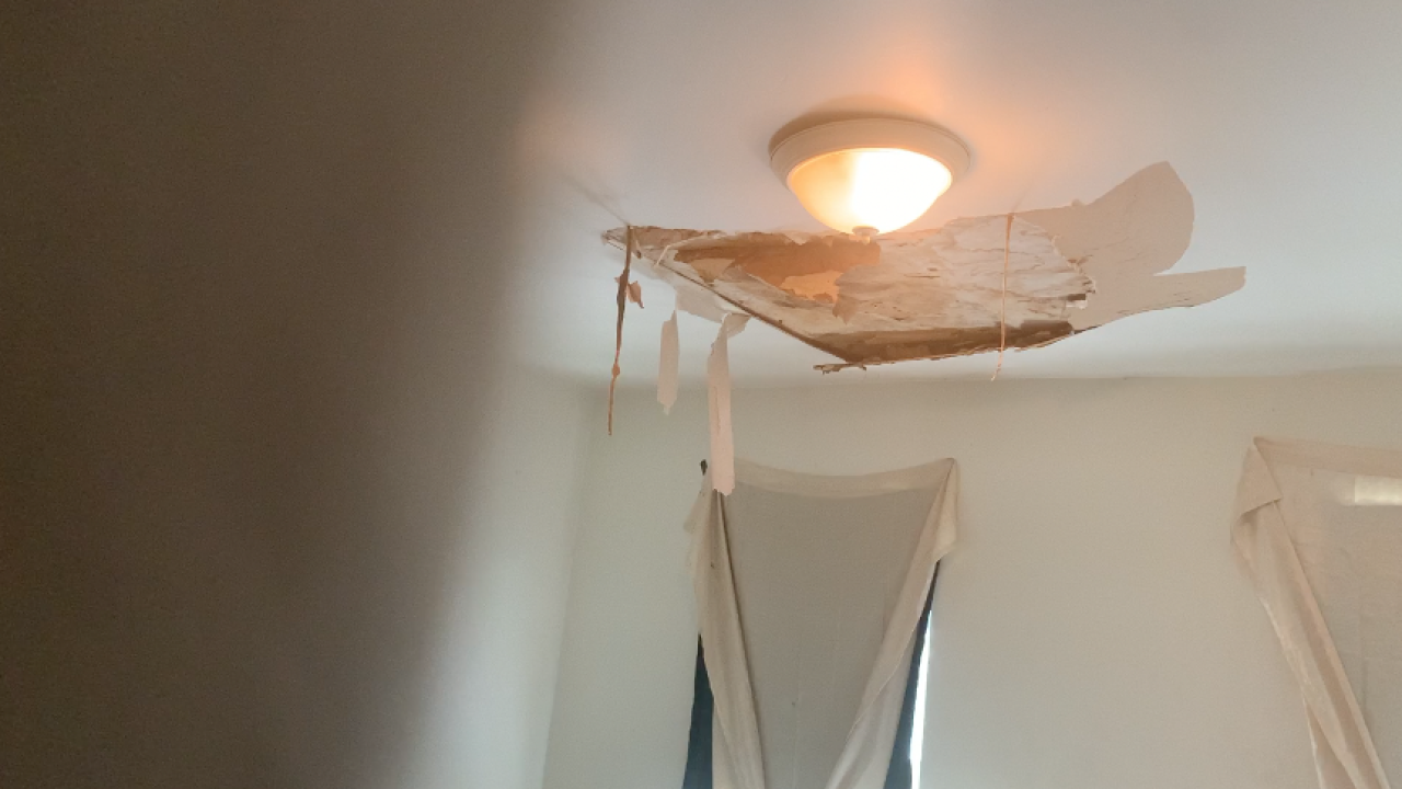 'I've got the voucher' Tenant plans to move because of hole in ceiling