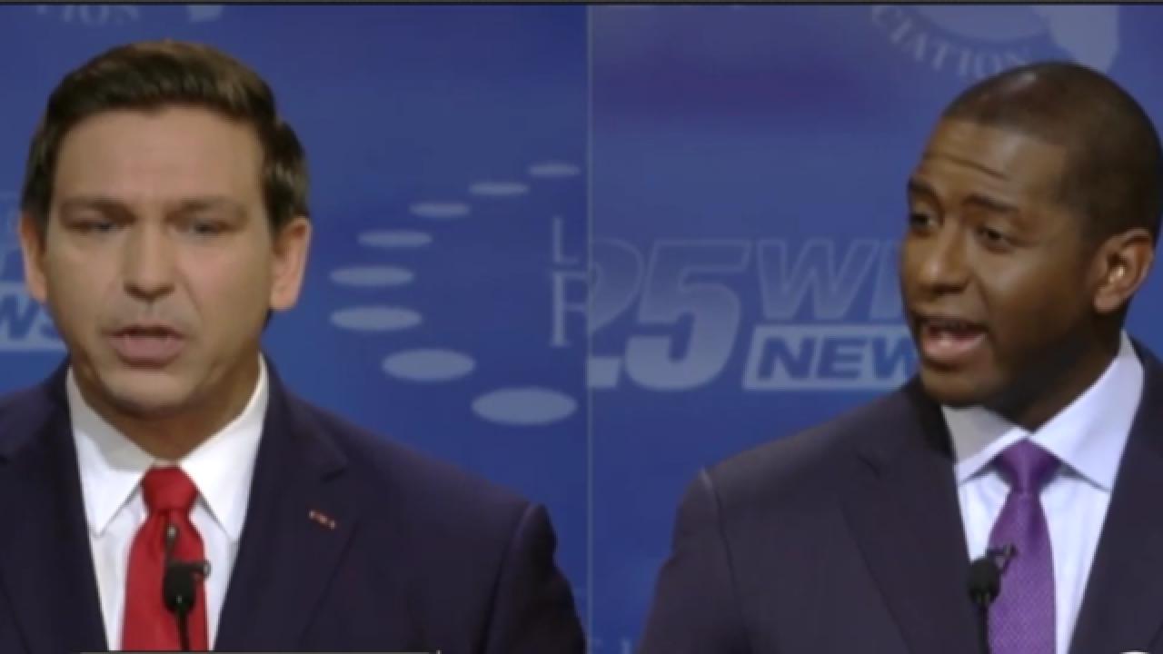 Andrew Gillum & Ron Desantis hold final gubernatorial debate before election