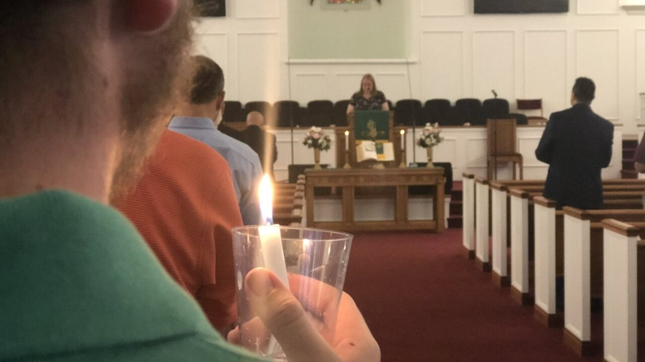 Church just blocks away from mass shooting gathers to honor victims, offer support and healing