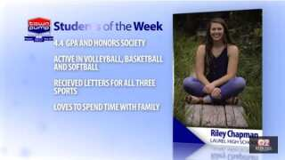 Students of the week: Riley Chapman and Gage Hull of Laurel High School