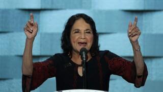 Civil rights activist Dolores Huerta