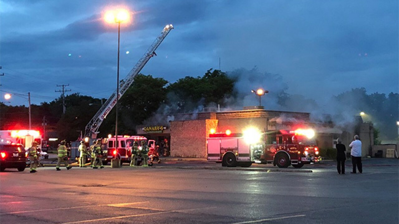 Fire breaks out at Canary's Family Restaurant