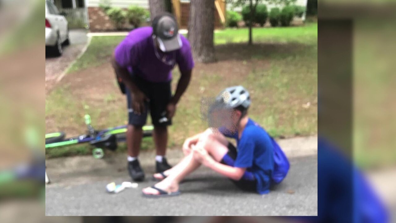 FedEx driver goes 'extra mile' to help injured boy who flippedbike