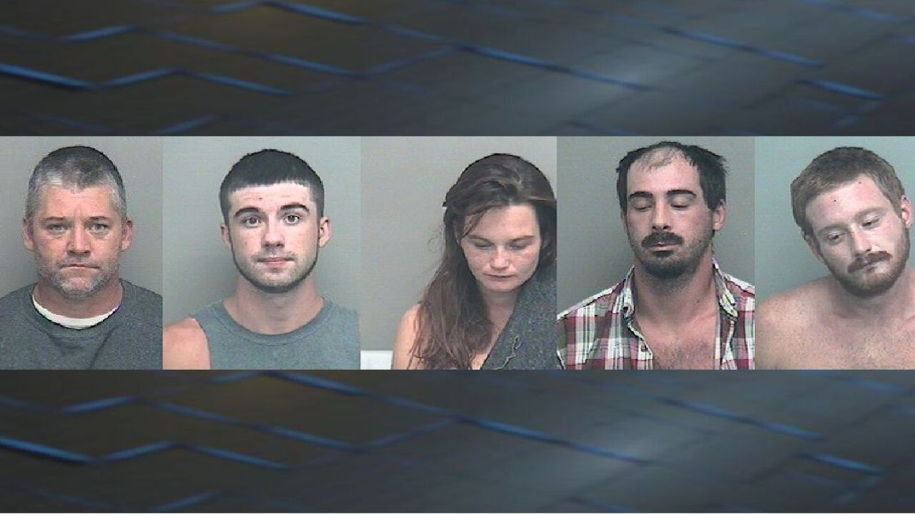 Drug bust leads to five arrests in Wakulla County