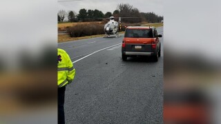 I83 truck car crash fire