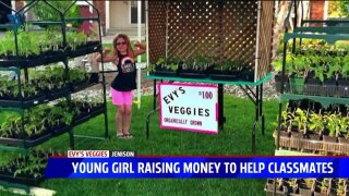 Jenison girl using vegetable stand to Pay It Forward