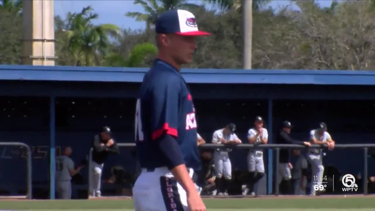 Caleb Pendleton, FAU catcher hit 2 grand slams in first 2 plate appearances
