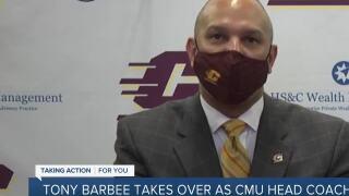 CMU introduces Tony Barbee as new head coach