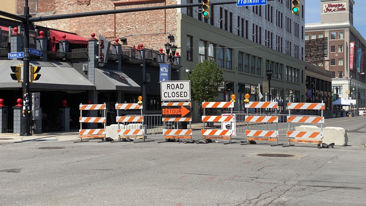 Chippewa closed off for the first weekend