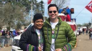 Lafayette Mardi Gras Association Parade rolls