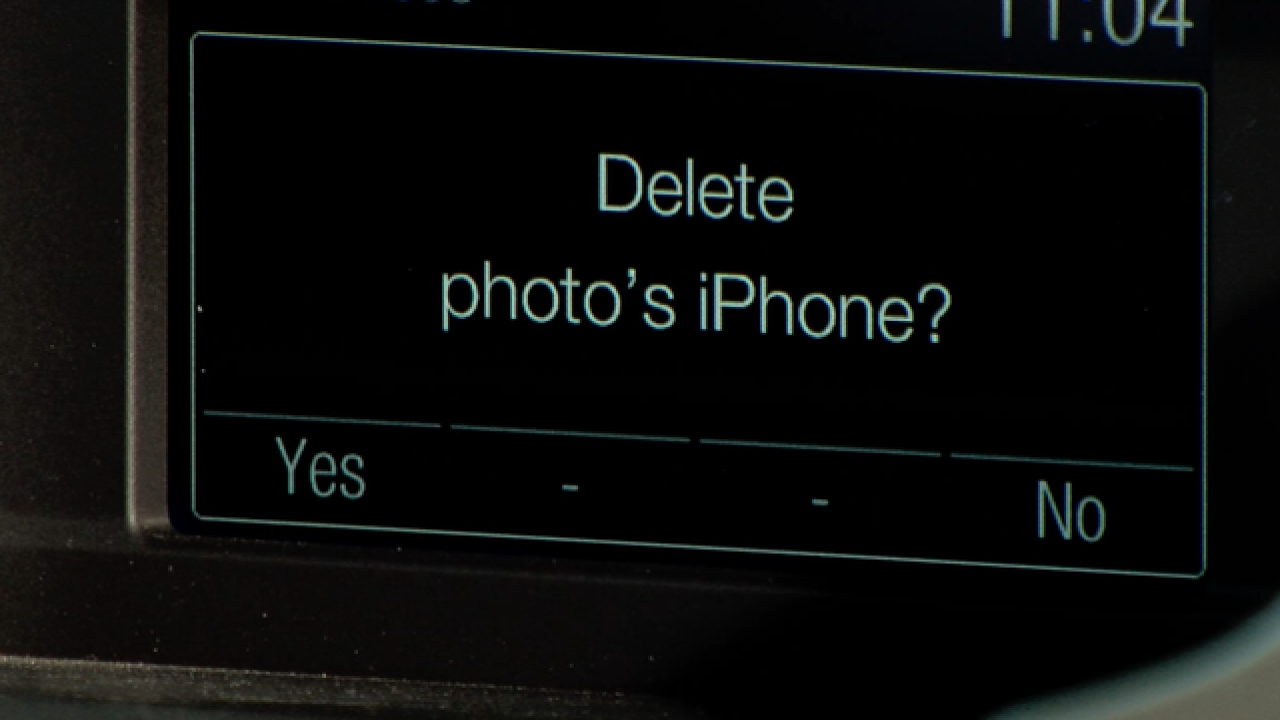 Delete your phone information from the rental...