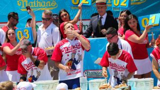 Nathan's Hot Dog Eating Contest: Joey Chestnut wins for 12th time by eating 71 hot dogs in 10 minutes