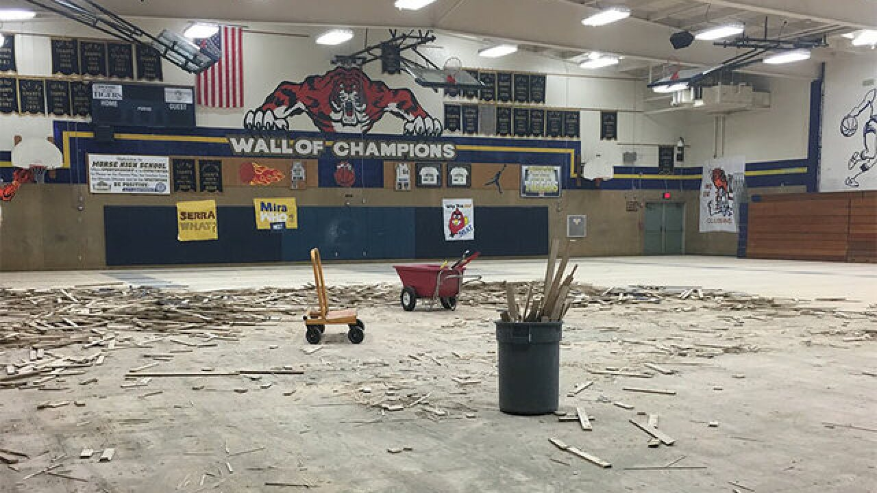 Vandals badly damage Morse High School's gym