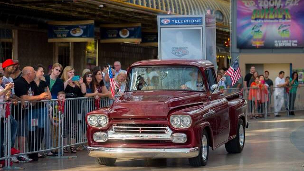 Cars from Hollywood make their way to Las Vegas