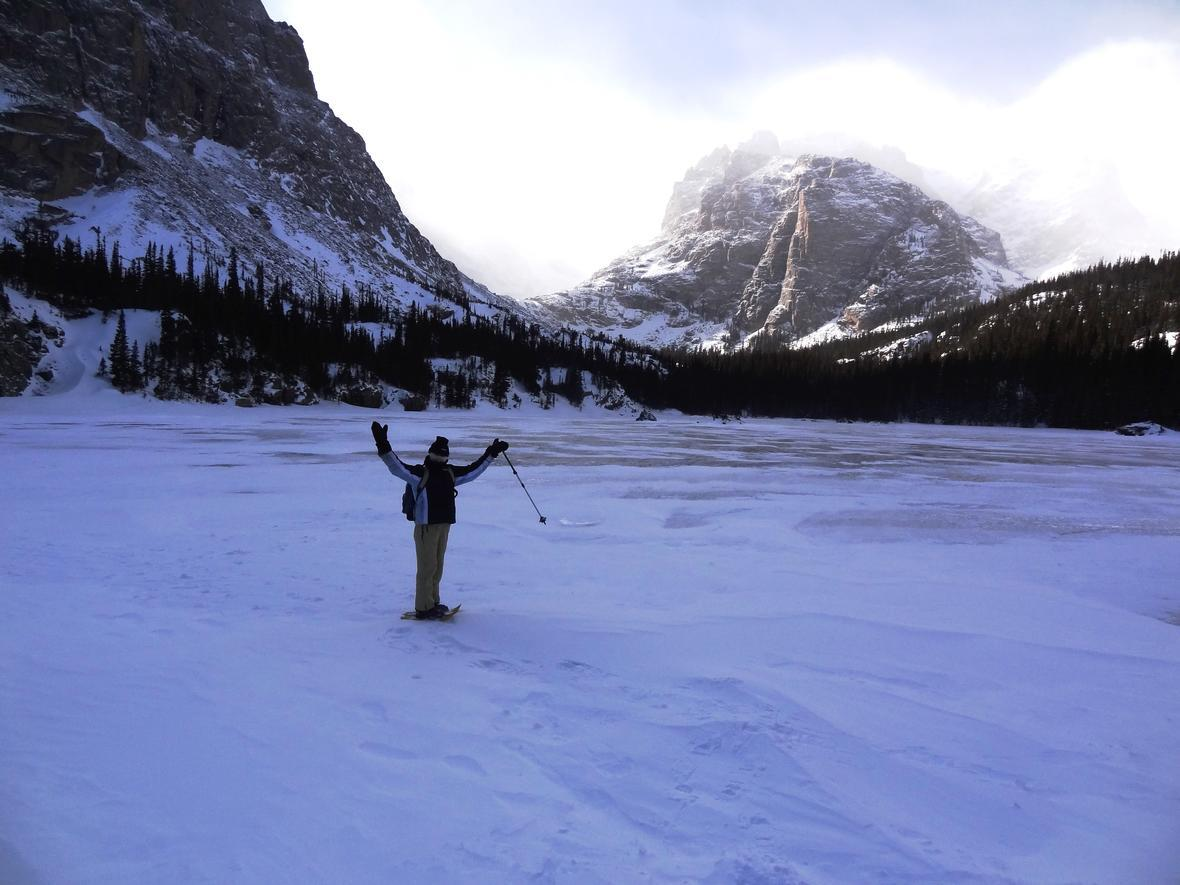 USGS Scientist Jill Baron at the Loch Vale site at RMNP