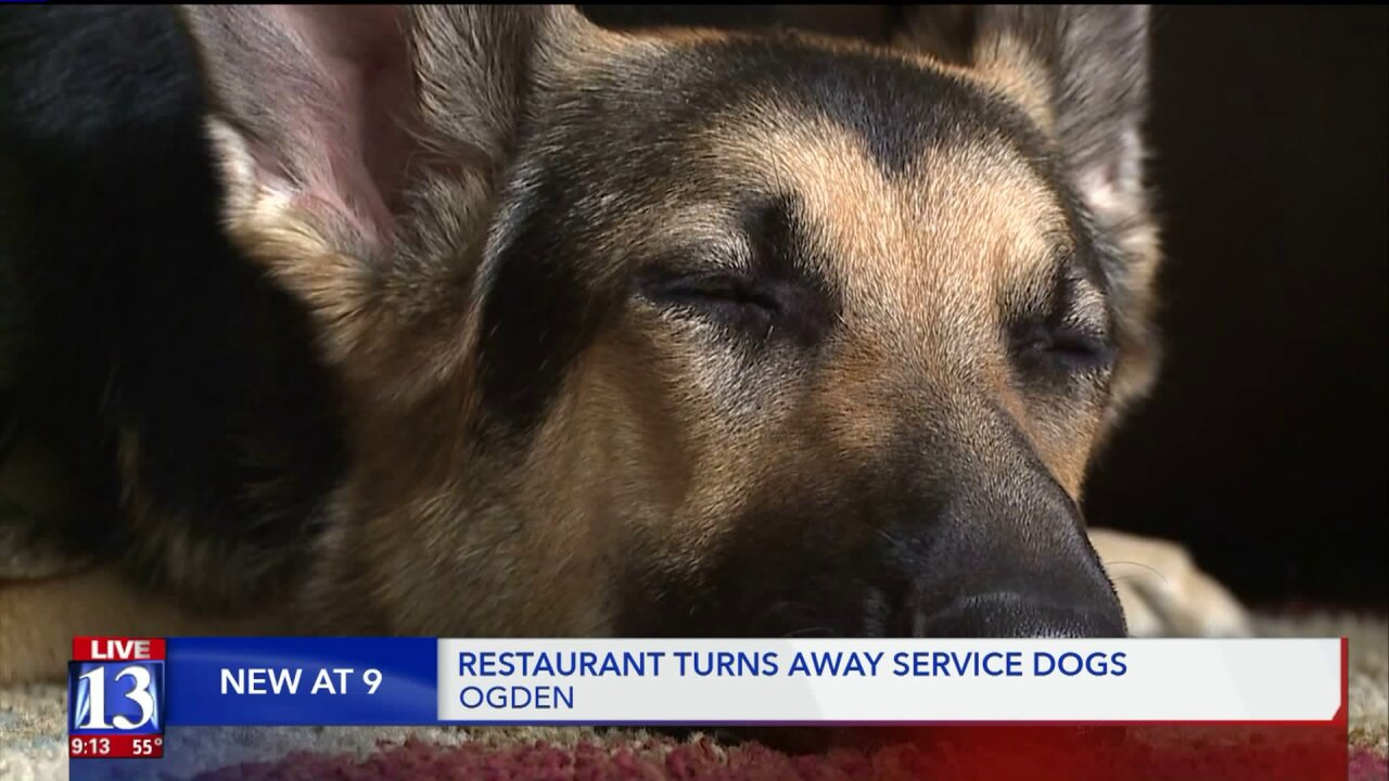 Ogden restaurant won't allow service dogs; customers upset