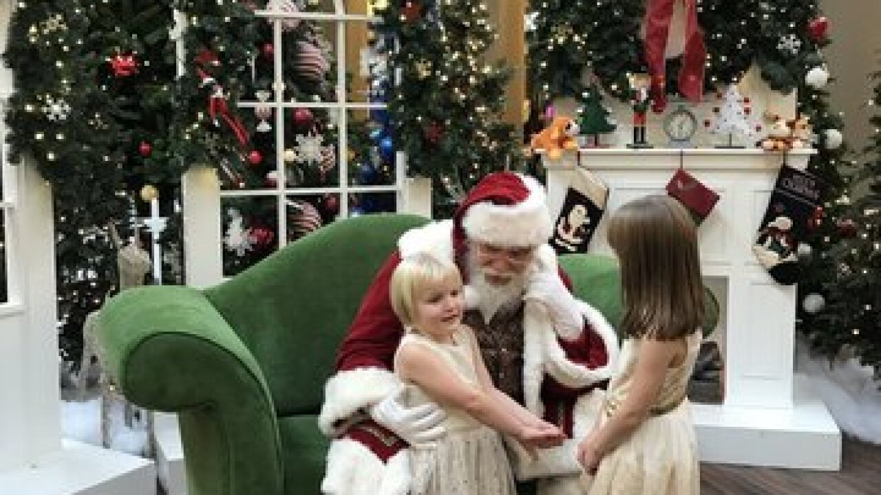 Santa has arrived at the Walden Galleria