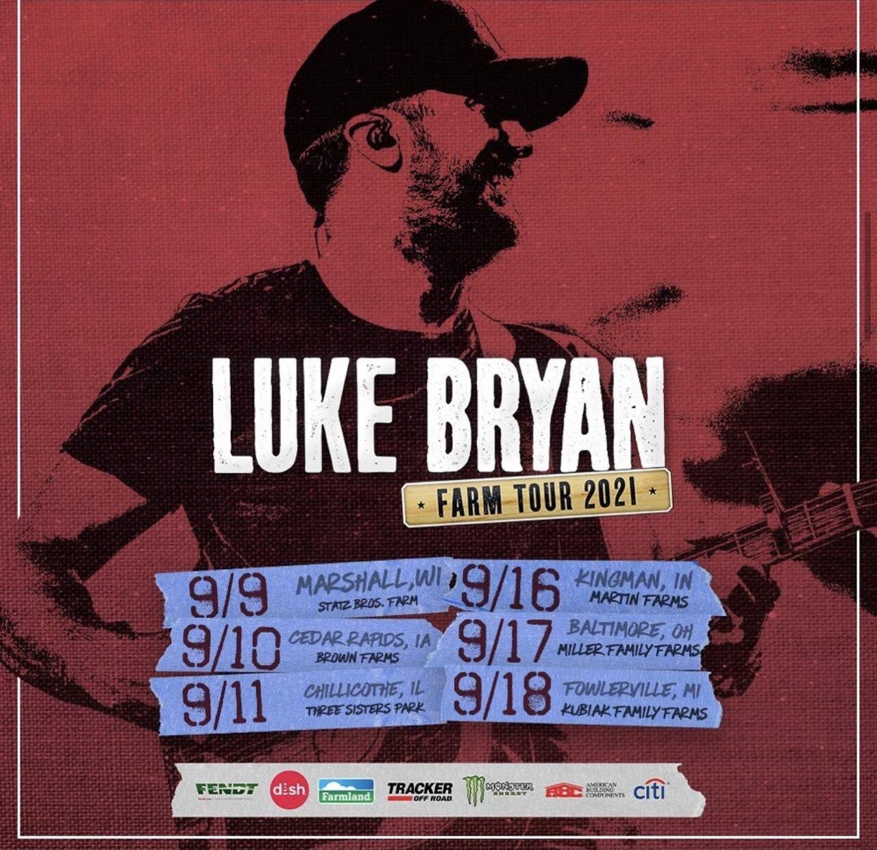 2021 : Luke Bryan Farm Tour Arrives in Fowlerville