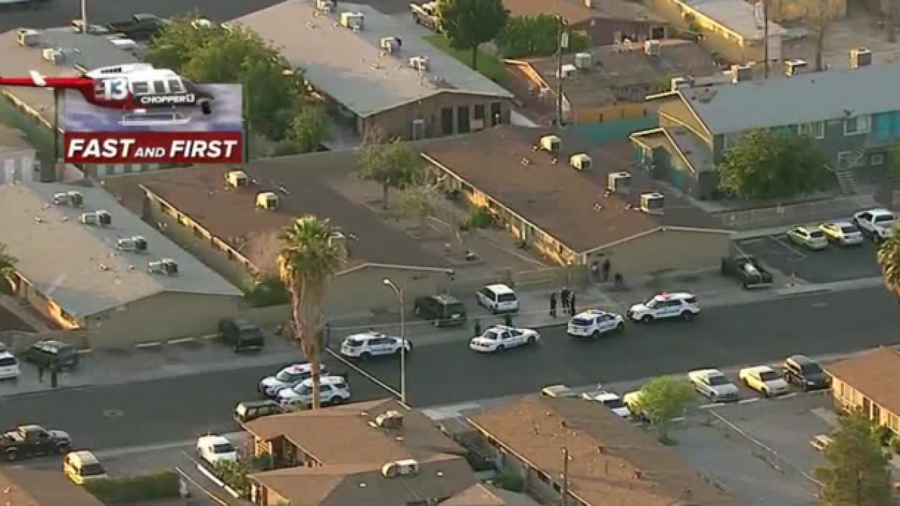 One dead, one critical in NLV shooting