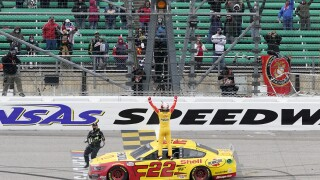 Joey Logano Kansas Speedway
