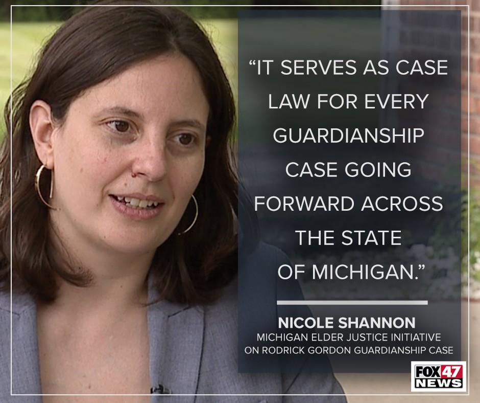 Michigan Elder Justice Initiative attorney Nicole Shannon