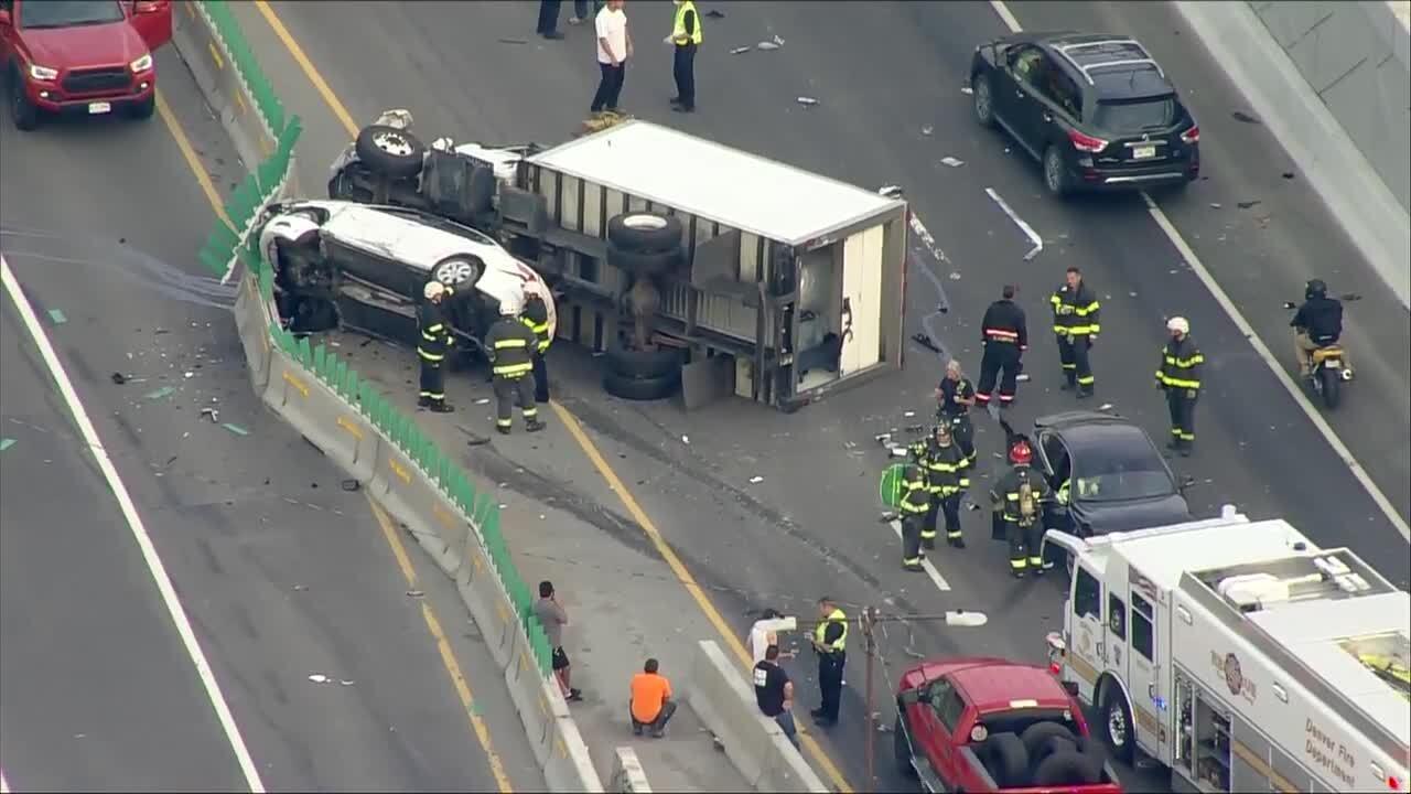 June 23 2021 I-70 and Colorado Boulevard crash