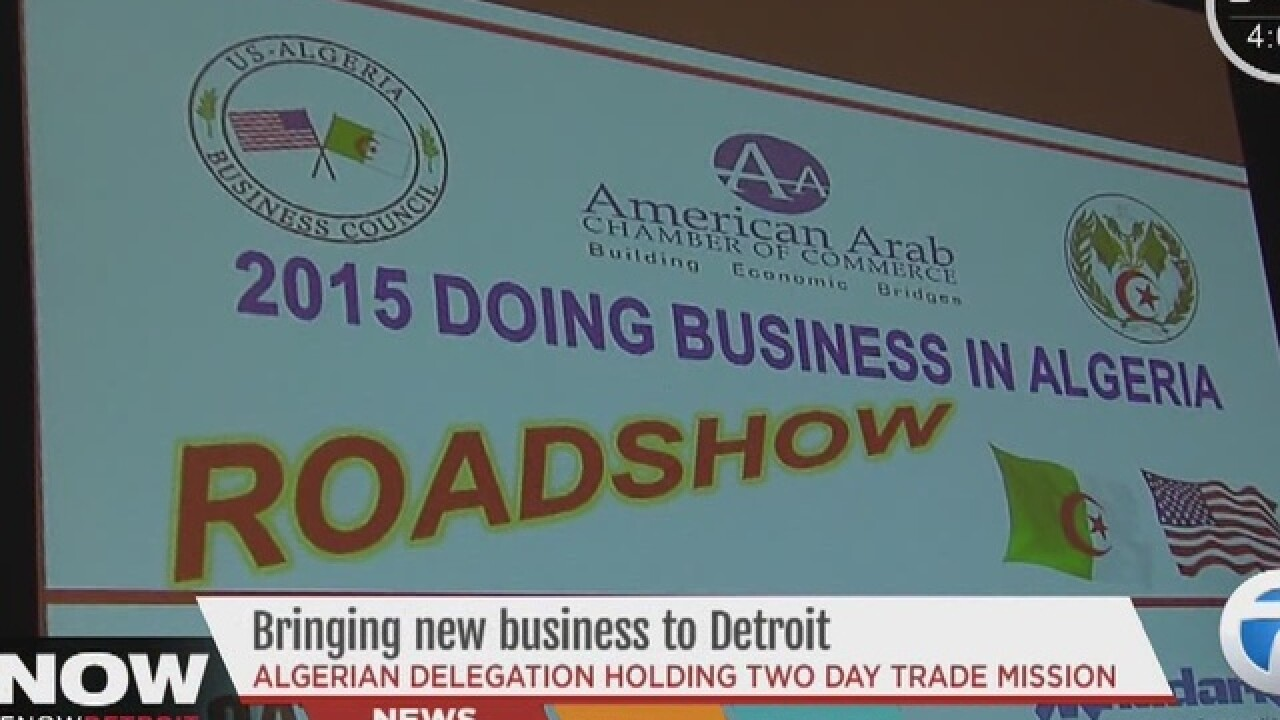 Algerian business leaders, officials in Detroit