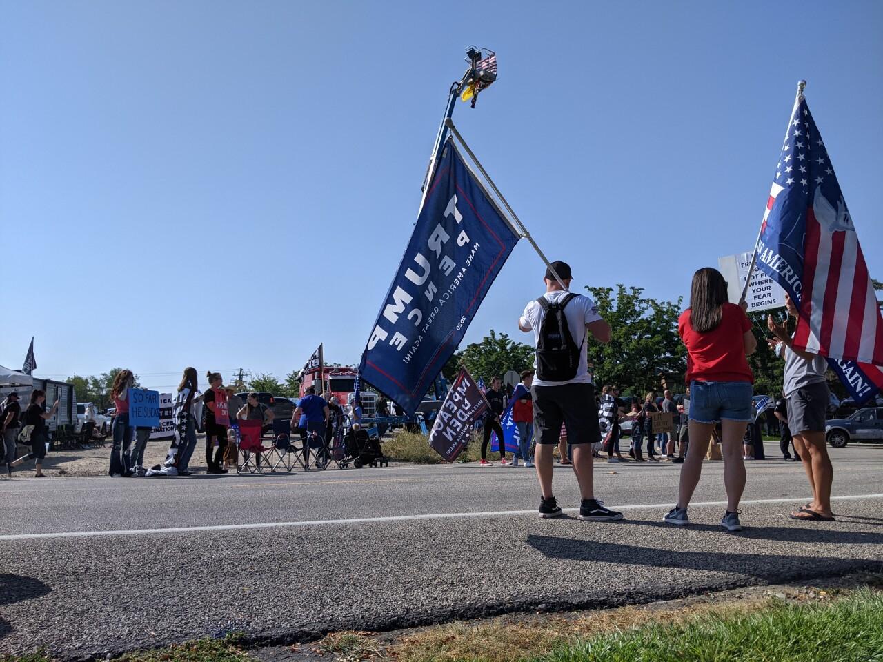 Biden Idaho protest