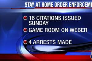 16 violation of Stay at Home order citations issued yesterday issued yesterday