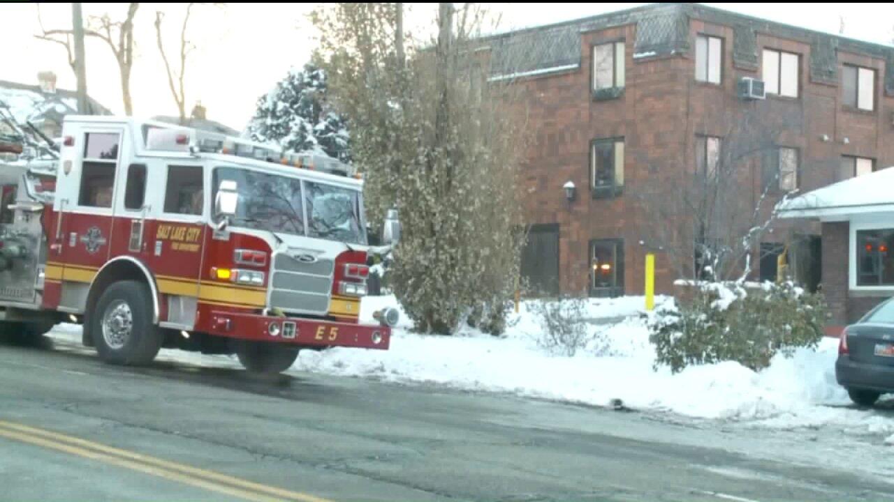 Firefighters extinguish blaze across the street from SLC firestation