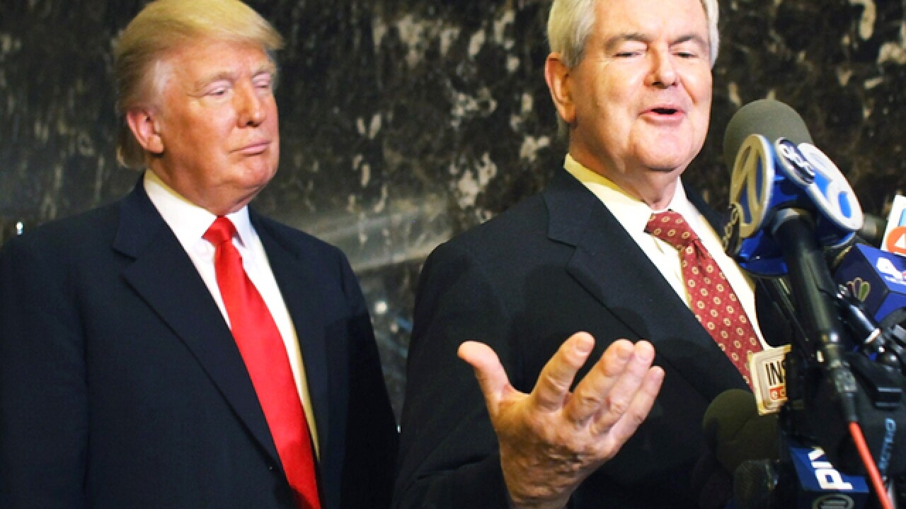 Gingrich joining Trump at Ohio rally