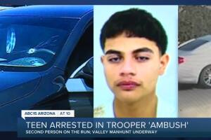 Teen arrested for shooting at DPS troopers in Phoenix, second suspect on the loose