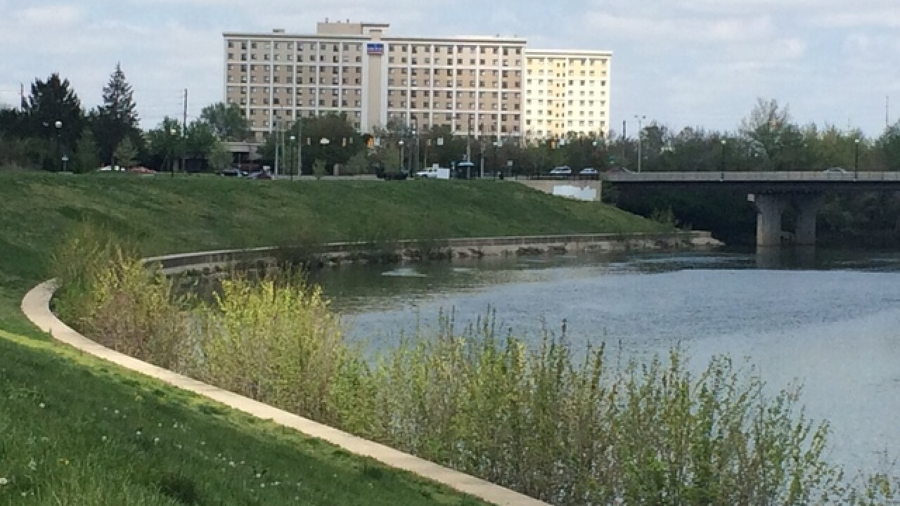 Possible human arm pulled from White River