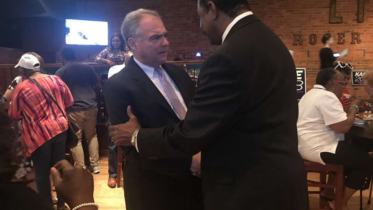 Tim Kaine hosts meet-and-greet at Portsmouth restaurant ahead of midterm elections