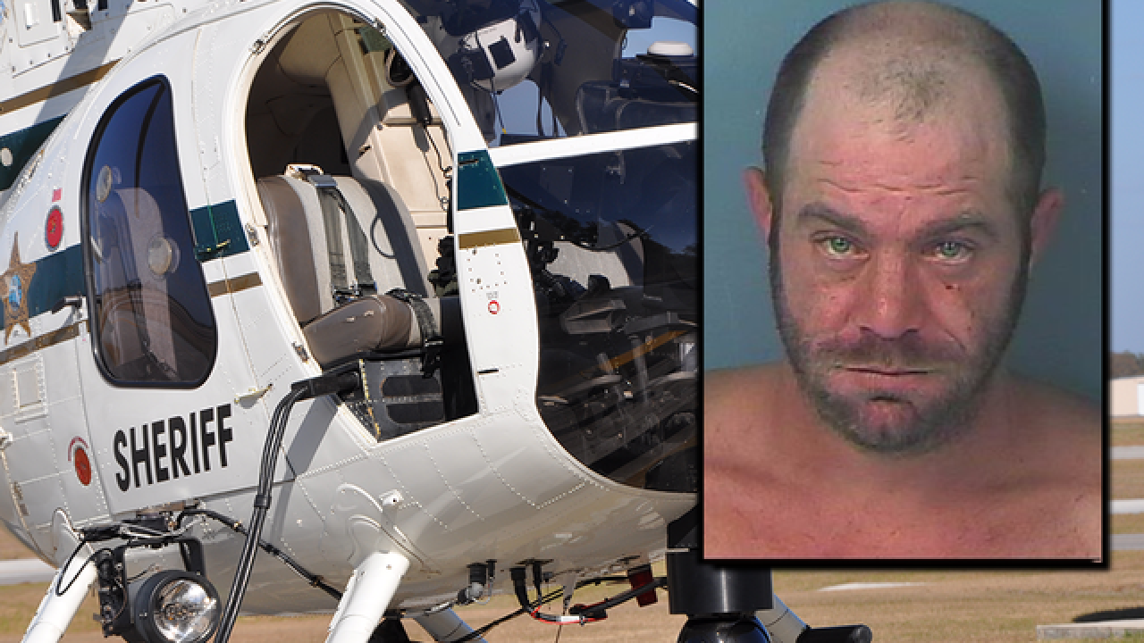 Florida man charged with pointing laser light at Hernando County sheriff's helicopter