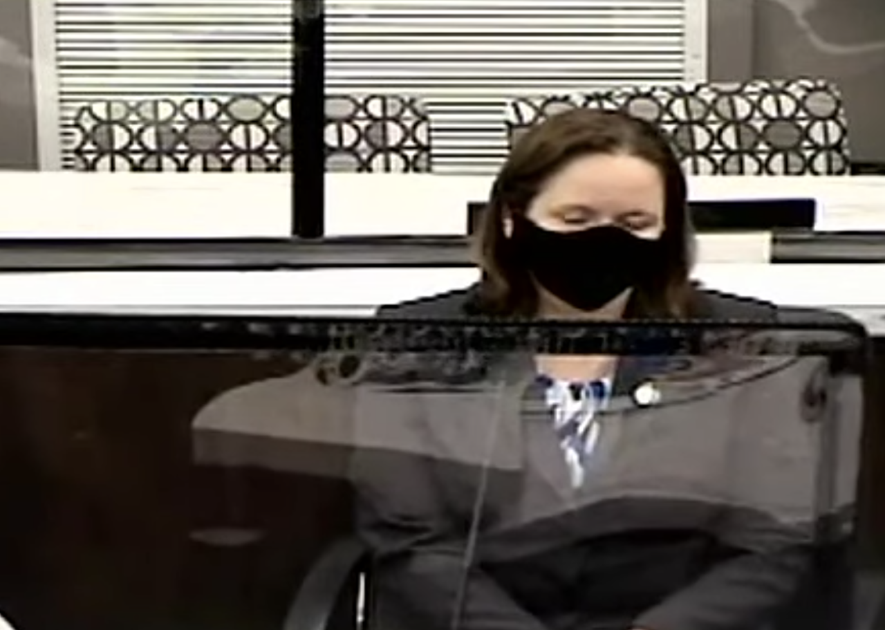 After a brief delay, WITNESS 23: Jennifer Roeder is testifying. She's a crime lab analyst for Florida Department of Law Enforcement.