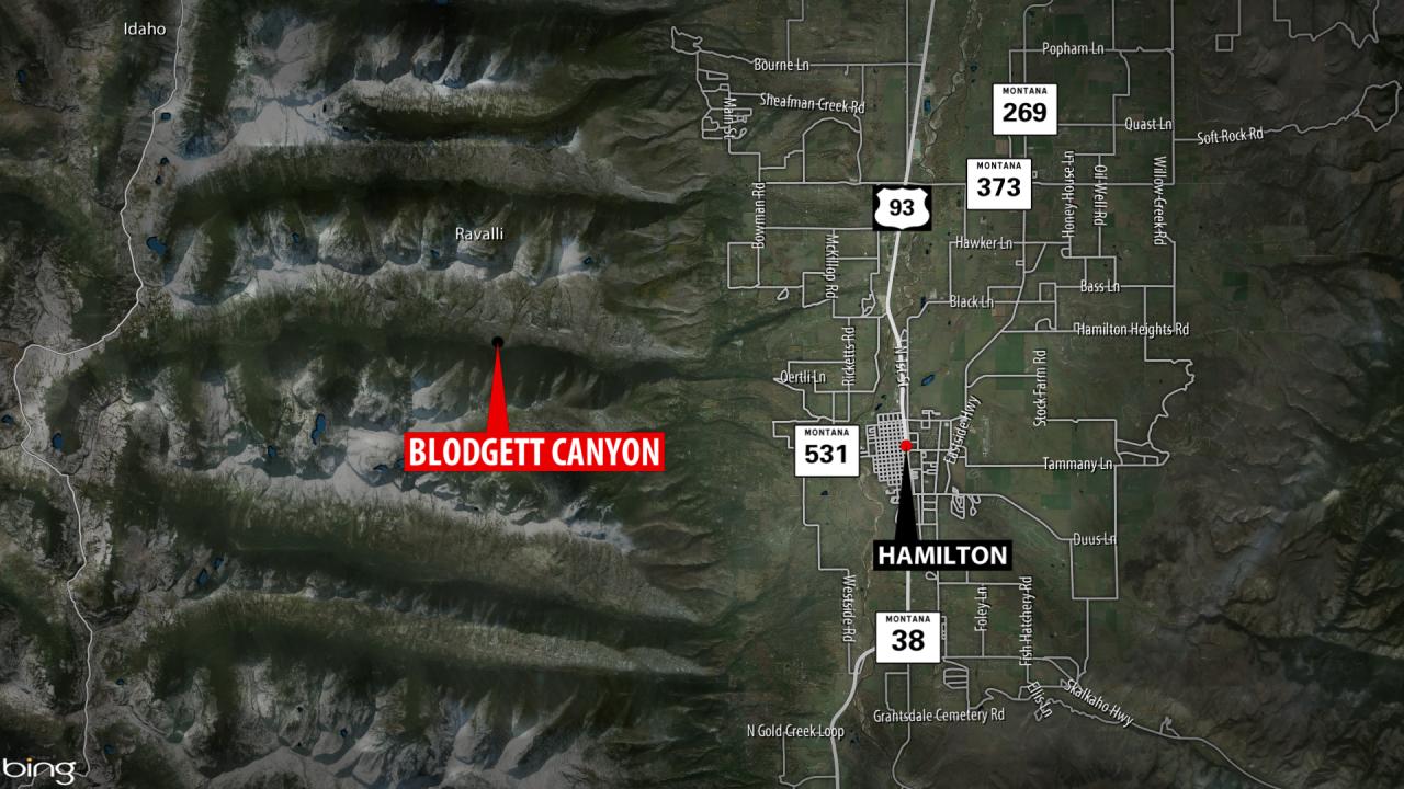 Blodgett Canyon WIldfire Map