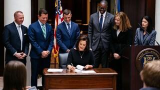 Gov. Whitmer signing executive order No. 2019-10 1142020