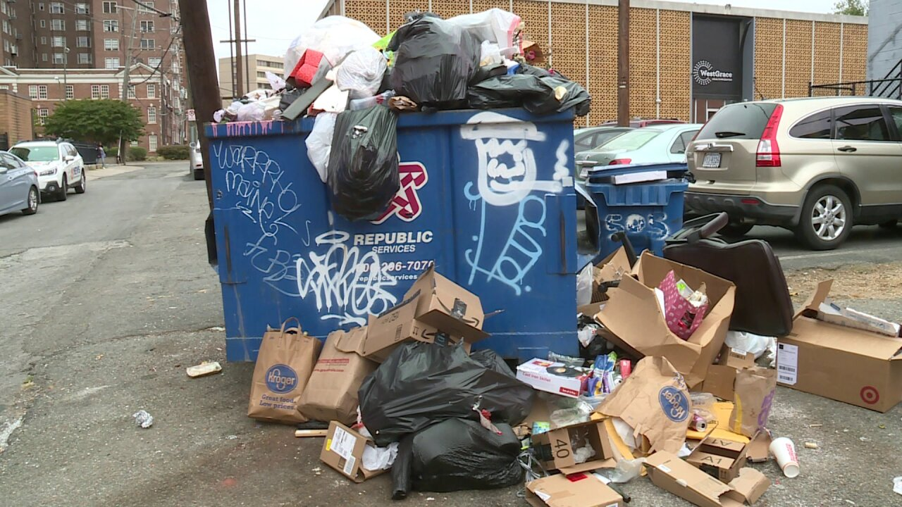 'Unsanitary,' overflowing Richmond dumpster is enticing vermin, woman says
