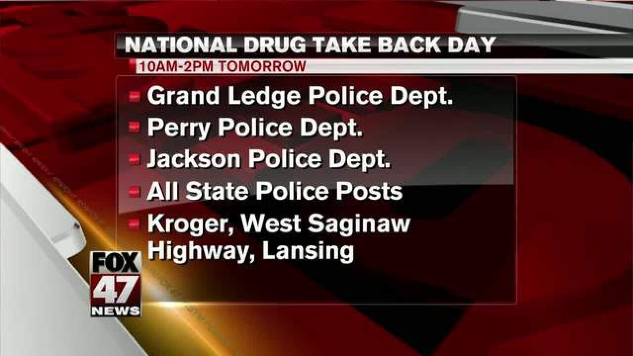 National Drug Take Back Day Tomorrow