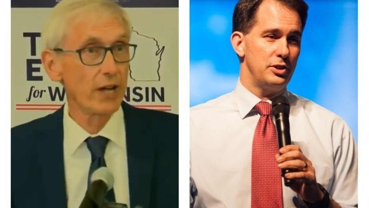Walker, Evers use budget proposals to score political points