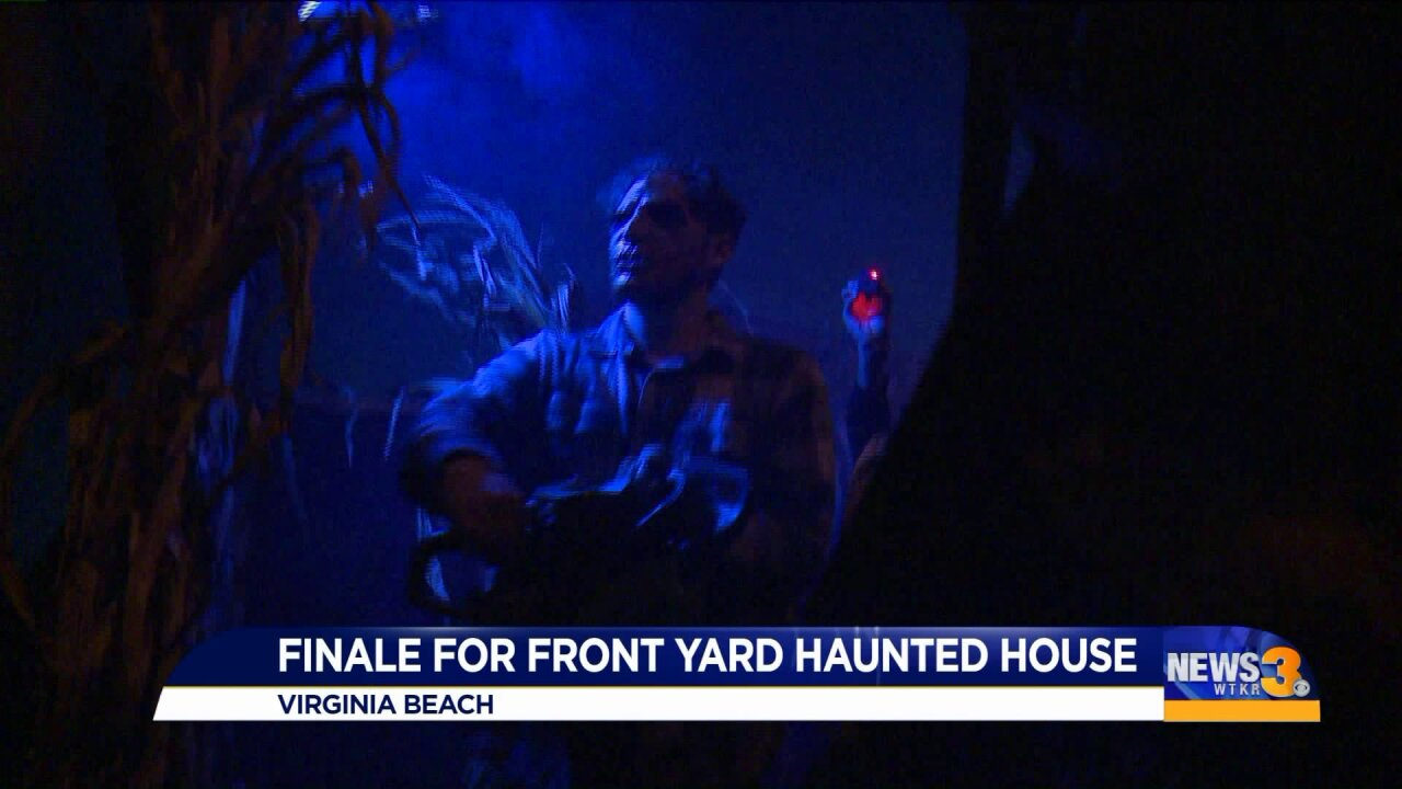 Popular Virginia Beach homemade haunted house celebrates Halloween for the last time