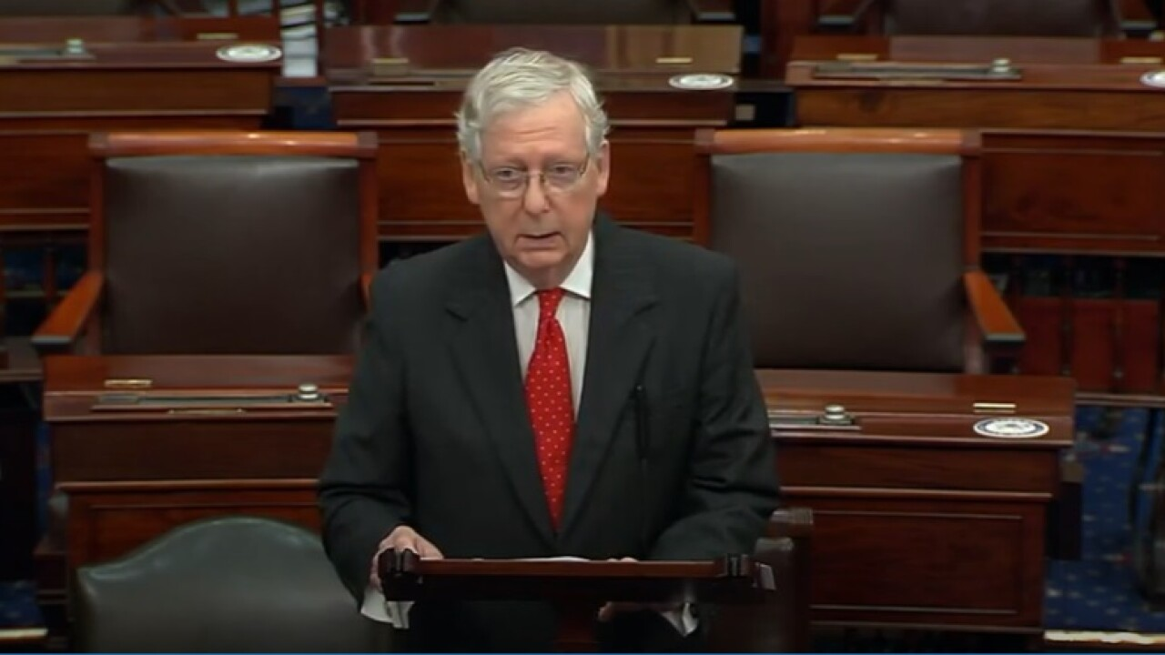 McConnell addresses Breonna Taylor decision, shooting of Louisville officers in Senate floor speech