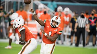 Miami Hurricanes QB D'Eriq King vs UAB Blazers