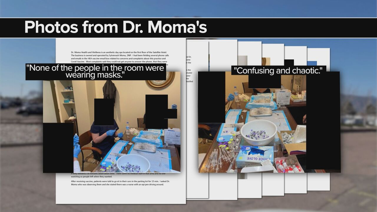 Pictures from CDPHE records regarding Dr. Moma